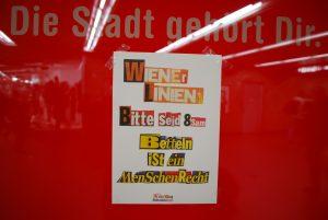 Wiener Linien Bettellobby